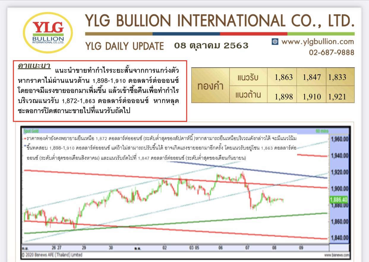 มุมมองทองคำ จาก YLG